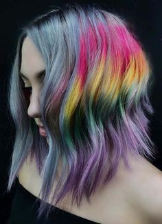 20 Best Smokey Rainbow Colored Haircuts for 2018