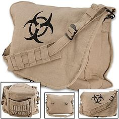 I found 'Post-Apocalyptic Zombie Bio-hazard Shoulder Bag' on Wish, check it out!