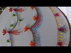 Hand embroidery stitches tutorial for beginners. Decorative stitches for borders. - YouTube