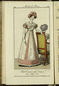 Petit Courrier des Dames : annonces des modes, des nouveautés et des arts del 15 de Octubre de 1822