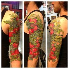 I would love to get this in just black ink... like an illustration out of a herbology book for my sleeve... in dedication to my great grandmother, we'd always eat tomatoes together :D