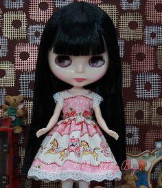 Blythe Dress set Merry Go Round pink for party via PrettyBy