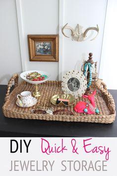 DIY Quick and Easy Jewelry Storage