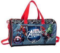 Bolsa de deporte Los Vengadores. Marvel Assemble 24x42x21cm Estupenda bolsa de deporte con medida de 24x42x21cm con la imagen de los héroes de Marvel basados en Los Vengadores.