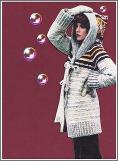 CROCHET Hooded Sweater PATTERN Vintage 70's by GrandmaHadItGoinOn