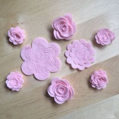32 Die Cut Baby Pink Unassembled Felt Roses, DIY Felt Flowers, Crafts is part of Felt flowers diy Die Cut Baby Pink Unassembled Felt Roses Perfect for any DIY Project! Includes 12 Medium and 20 Sm - Paper Flowers Diy, Handmade Flowers, Flower Crafts, Fabric Flowers, Zipper Flowers, Felt Diy, Felt Crafts, Fabric Crafts, Baby Crafts