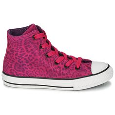 Girls love Converse and these hot pink leopard print ones are no exception! #shoes #converse #girls #kids #children #trainers #uk