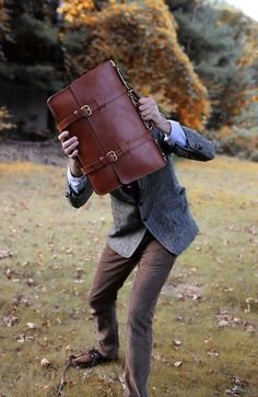 The Frank Clegg English Briefcase, classic profesorial style.
