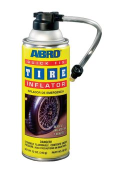 Use ABRO QF-25 quick fix tyre #inflator for fixing your car's deflating #tyre.
