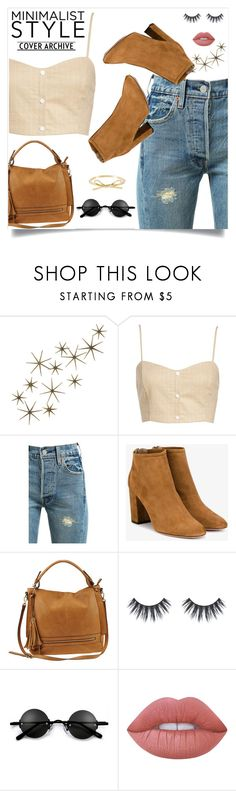 """""""A mix.-M"""" by amar-maya ❤ liked on Polyvore featuring Global Views, Leith, Levi's, Aquazzura, Urban Expressions, Lime Crime and amarmaya"""