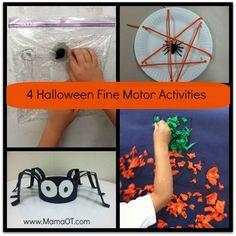 4 Halloween Fine Motor