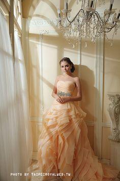 Peach dress - TaipeiRoyalWed.tw 台北蘿亞結婚精品 桃色晚禮服