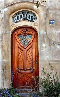 Art Nouveau Doorway which features an upside-down heart
