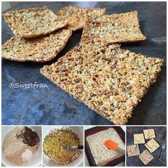Pan al horno Ingredientes para 8 tostadas pan. -1/2 taza de avena en polvo (80grs) -4 claras de huevo -2 cdas polvos de hornear. -2 cdas de semillas de linaza (opcional) -condimentos como sal, ajo, oregano, etc (opcional, si quieren pan dulce pueden poner endulzante, canela, etc)  Preparación: 1-En un bowl mezclar bien los ingredientes secos (avena, semillas, polvo, condimentos), luego agregar las claras y con un tenedor incorporar todo, quedara una masa un poco...