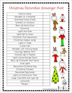 Love this Christmas decorations Scavenger Hunt. Simply print and take the family on a post dinner stroll. Easy Fun!