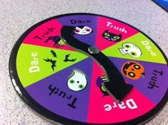 Spooky Truth or Dare-Find at Target!-includes spinner and truth or dare cards. From Heard in Speech. Pinned by SOS Inc. Resources @sostherapy.
