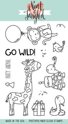 Neat & Tangled Clear Stamp-Wild Ones