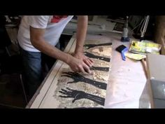 A musical instructional on how to cut and print a ply wood cut. www.petermackie.com