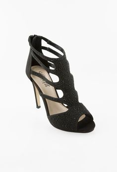 HIGH HEEL BEADED ZIP