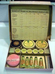 Image detail for -complete and unused white female max factor theatrical student kit in ...
