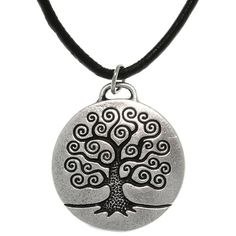 Carolina Glamour Collection Antiqued-pewter 'Tree of Life' Celtic-style Pendant Necklace | Overstock.com Shopping - The Best Deals on Men's Necklaces