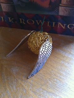 Golden Snitch with Silver Wings Harry Potter Christmas Ornament