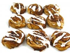Skinny Mini Cinnamon Rolls...I have one word to describe these delectable little treat, de-licious! What a great treat, snack, breakfast or dessert. You'll love how easy they are to make. The only hard part is limiting yourself to eating just a few! The skinny for each, 90 calories, 1 gram fat and 2 Weight Watchers POINTS PLUS.