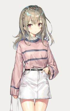 ideas art girl kawaii anime characters for 2019 Anime Neko, Kawaii Anime Girl, Manga Kawaii, Manga Anime Girl, Anime Girl Drawings, Anime Eyes, Anime Girls, Anime Girl Dress, Wolf Drawings