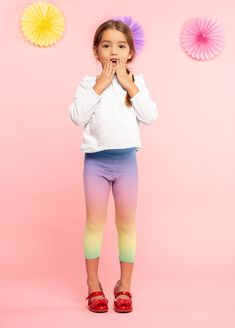 Items similar to Girls Kids Pastel Rainbow Unicorn Leggings on Etsy Unicorn Leggings, Cute Leggings, Girls In Leggings, Tween Fashion, Girl Fashion, Outfits For Teens, Cool Outfits, Cute Dresses, Girls Dresses