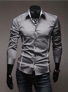 MSA Signature Shirt Long Sleeve Cutting Edge Character Mens Perfect Slim  Shirts Acessórios Masculinos 62910da21bc