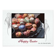 Easter Egg Hunt Invitations Easter Egg Platter Holiday Card