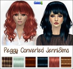 Jenni Sims: Peggy Hairs converted for the Sims 4 • Sims 4 Downloads