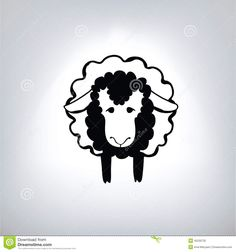 zwart-silhouet-van-schapen-45230732.jpg (1300×1390)