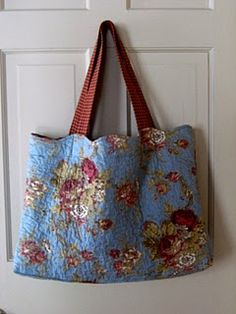 large bag made from a pillow sham