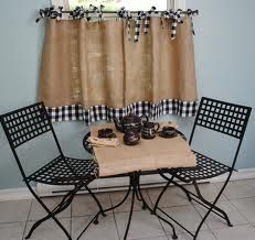 burlap cafe curtains