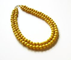 Check out our yellow bib necklace selection for the very best in unique or custom, handmade pieces from our shops. Yellow Necklace, Yellow Jewelry, Summer Necklace, Wood Necklace, Beaded Necklace, Memory Wire Bracelets, Vintage Marketplace, Beads, Handmade
