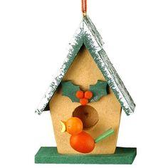 Christian Ulbricht Wooden Birdhouse Christmas Ornament