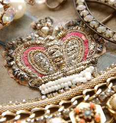 Beaded embroidered crown