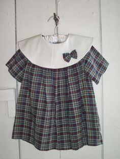 ADORABLE HAND MADE PLAID DRESS WITH PANTIES SIZE 2 PERFECT VINTAGE PHOTOS http://cgi.ebay.com/ws/eBayISAPI.dll?ViewItem&item=171145709993