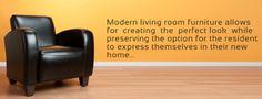 Modern living, modern furniture