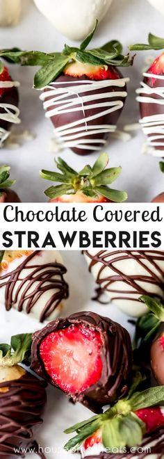 Chocolate Covered Strawberries are perfect for Valentine's Day & Mother's Day, using on top of cakes, cupcakes, cheesecake, or brownies for a stunning dessert presentation, or just as a special treat! Learn how to make chocolate covered strawberries with dark, milk or white chocolate and you'll save a bundle versus buying them! #strawberries #chocolate #chocolatecoveredstrawberries #valentinesday #dessert #best #tempered #whitechocolate #milkchocolate #darkchocolate #easy #best Best Dessert Recipes, Candy Recipes, Fruit Recipes, Easy Desserts, Delicious Desserts, Snack Recipes, Valentine Desserts, Valentines, Homemade Candies