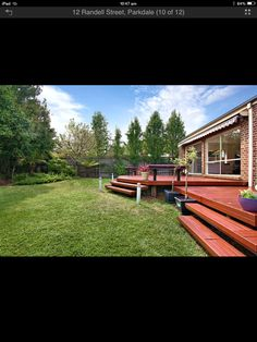 Love the deck and steps