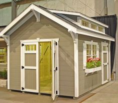 Garden shed trim, door, and flower box. Cute. | Nest | Pinterest ...
