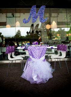Purple Bridal Shower - Reception,  Chair,  Mollys Bridal Shower