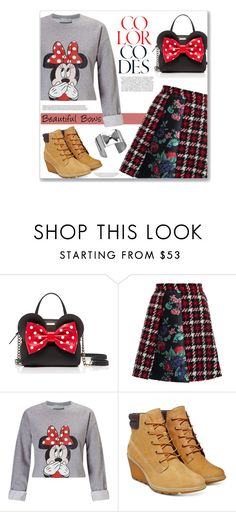 """""""Minnie"""" by alynncameron ❤ liked on Polyvore featuring Kate Spade, Kershaw, MSGM, Miss Selfridge, Timberland and bows"""