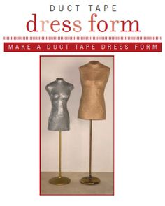 Duct Tape Dress Instructions.