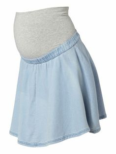 Denim Skater maternity skirt from MAMALICIOUS #mamalicious #maternity #skirt #summer Maternity Skirt, Pregnancy Clothes, Warm Weather, The Selection, Skater Skirt, Mini Skirts, Couture, Denim, Summer
