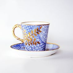Royal Worcester Gilded Cup and Saucer in the by CountyWoodcraft, £7.50