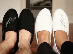 Tutoriales DIY: Cómo hacer unas zapatillas para estar por casa de fieltro vía DaWanda.com