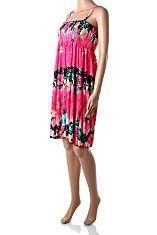 d27d92f6de0f Ružové letné šaty po kolená Only Star Padavé volné ľahké sýto ružové šaty  po kolená s